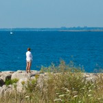 Woman Gazing over Beautiful Lake Ontario
