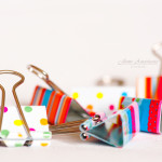 Colorful organizing paper clips