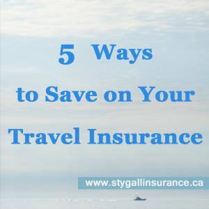 Travel Insurance - 5 Ways to Save