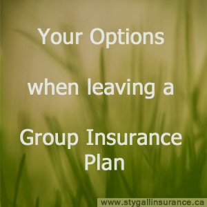 Options when leaving a group insurance plan